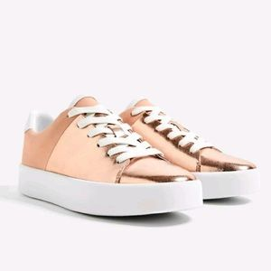 Zara Rose Gold Sneakers